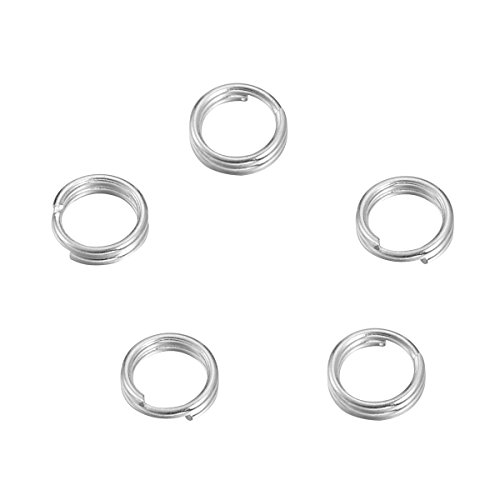 VALYRIA Sterling Silver Split Jump Ring Connector Charm Jewelry Findings,20pcs 5.0mmx0.5mm ()