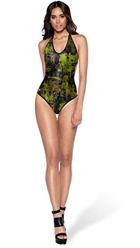 THENICE Mujer Bikini Trajes de una pieza Painting