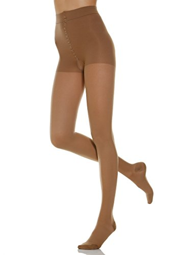 20-30 mmHg Firm Compression Support Pantyhose. Italian Made (Size 4 Nude)
