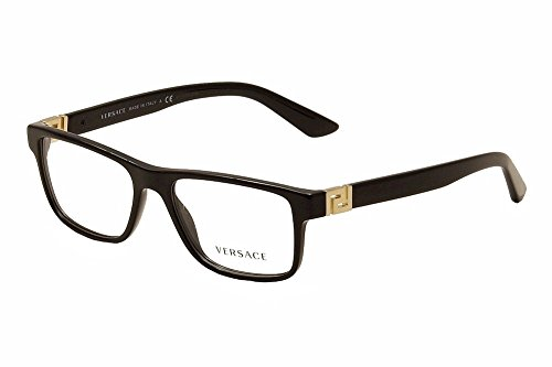 amazoncom men versace eyeglasses ve3211 gb1 black frame 55 145 clothing
