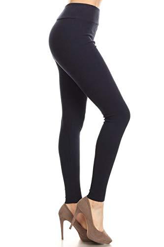 Leggings Depot HRL128-NAVY-L Ribbed Knit Jogger High Waist Track Pants, - Ribbed Knit Pants