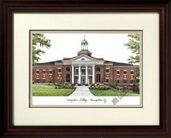 Georgetown College Alumnus Framed Lithograph by Landmark Publishing
