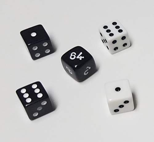 Backgammon Doubling Cube 10mm Dice Set / Replacement or Travel Set Very Small