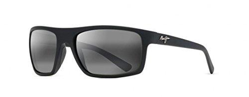 Maui Jim Unisex Byron Bay Matte Black Rubber/Neutral Grey - Sunglasses Australia Jim Maui
