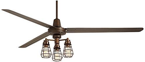 72″ Turbina XL Bendlin Cage Oil-Rubbed Bronze Ceiling Fan For Sale