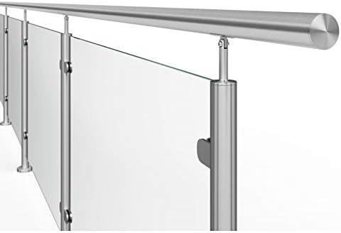 AVIS España Barandilla de Acero Inoxidable y Cristal 300cm: Amazon.es: Hogar