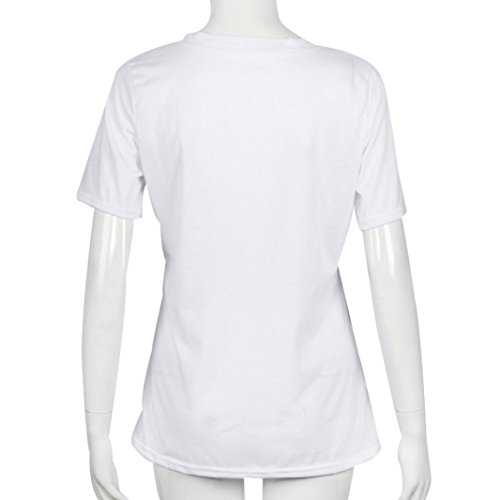 Stampa Girocollo Allentato Top Camicia Camicetta Popolare Labbra T Bianco shirt Donna Maglietta Zarupeng Moda Ciglia wExzqvcX