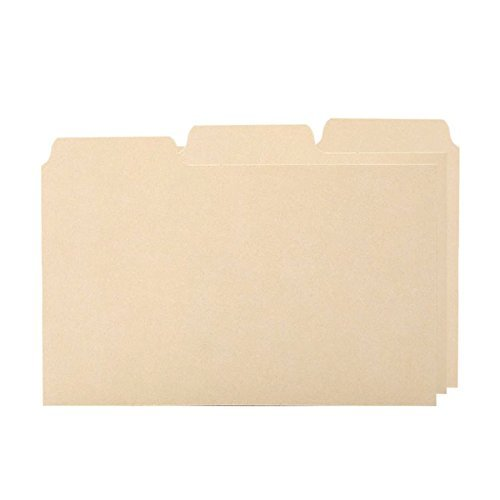 1/3 Cut Blank Tab Index Card Guide by Oxford by Oxford
