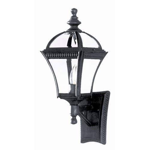 (Trans Globe Lighting 5080 BK Washington Outdoor Black Traditional Wall Lantern, 19.5