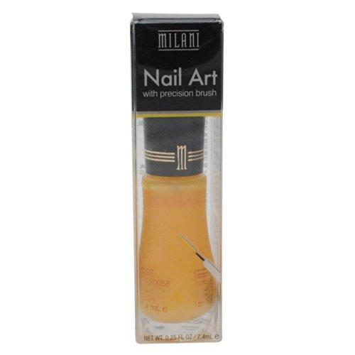 Milani Nail Art Nail Color #708 Yellow Design