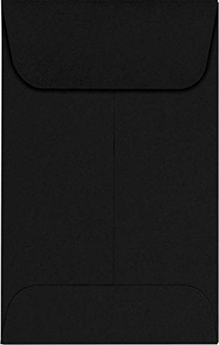 #1 Coin Envelopes (2 1/4 x 3 1/2) – Midnight Black (500 Qty.) | Perfect for the HOLIDAYS, Weddings, Parties & Place Cards | Fits Small Parts, Stamps, Jewelry, Seeds | 1COBLK-500