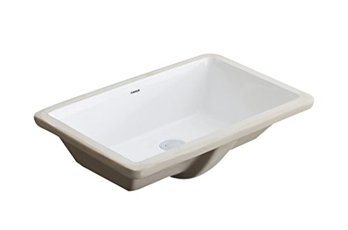 CHANGIE 1629W Rectangular Lavatory Undercounter Bathroom Ceramic Sink,White,21×13 inches