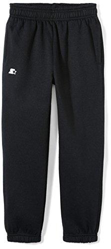 Starter Boys' Elastic-Bottom Sweatpants with Pockets, Amazon Exclusive, Black, M (8/10)