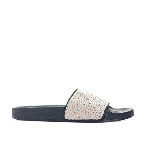Slydes Womens Amber Slider Sandals in Black TvwQr