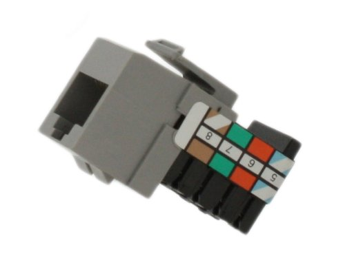 Leviton 41108-RG8 Voice Grade QuickPort Connector, Grey ()
