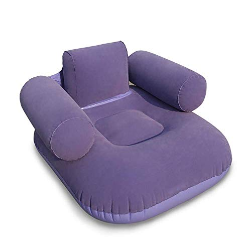 Chaise Lounge Adjustable Mobile - QTQZ Lunch Break The Sofa at The Broom Folding Inflatable Sofa Home Chairs Beach Chair Mobile Lazy Sofa (Optional) (Color: B)