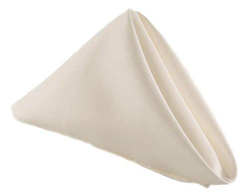 (Stain Resistant Ivory Cloth Easter Napkins Polyester Table Linen - For Kitchen Dining Room Washes Easily Non Iron - Thanksgiving Christmas New Year Eve dinner (Ivory, Napkins 17