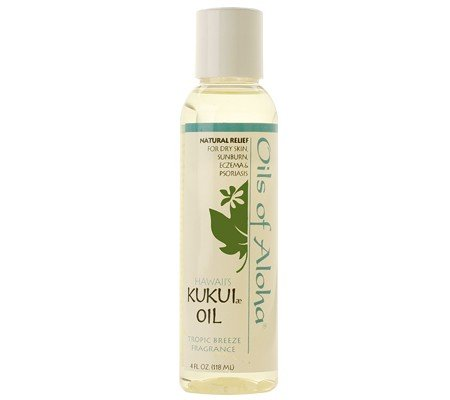 Hawaii Kukui Nut Oil with Tropic Breeze Fragrance 4 oz