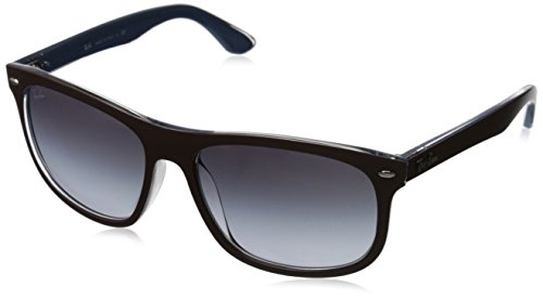 Ray-Ban INJECTED MAN SUNGLASS - TOP MATTE CHOCCOLATE ON Frame GREY GRADIENT DARK GREY Lenses 59mm - Folding Classic Wayfarer Polarized