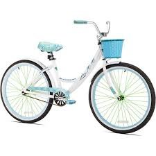 "Kent 26"" Women's, La Jolla Cruiser Bike, White"