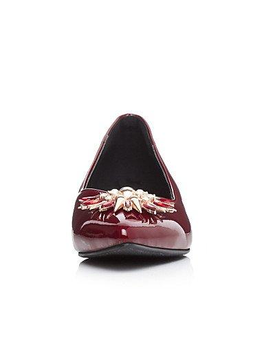Blanco Uk8 Rojo Semicuero 5 Cn43 us10 Tacón Zq Cuña Cuñas Red Eu42 Mujer Casual 5 De Planos Zapatos HwZxzxgvq