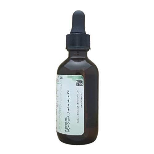 Botanic Glow Unrefined Organic Argan Oil 2 oz - All-Natural Pure Virgin Cold Pressed Moroccan Oil