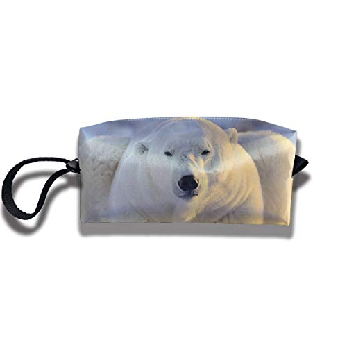 Cosmetic Bags With Zipper Makeup Bag Wild Polar Bear Middle Wallet Hangbag Wristlet Holder -