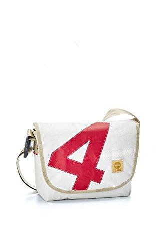 360° borsa di tela Paula Rosso Numero di cinghie Beige