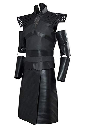 Mens Game Night King Thrones Outfit Dark Crusader Cosplay Costume Black