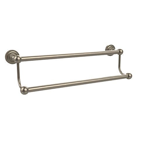 Allied Brass DT-72/18-PEW Dottingham Collection 18 Inch Double Towel Bar, Antique Pewter