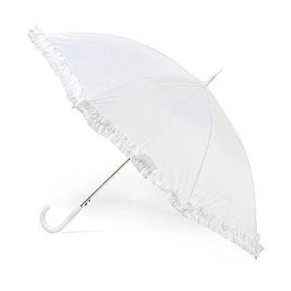 Parapluie de mariage blanc budget avec volant