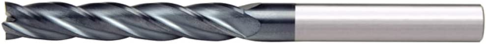 Alfa Tools SCL60670AL 1X1 4 Flute Single End Center Cutting Long AlTiN Carbide End Mill Made In USA,