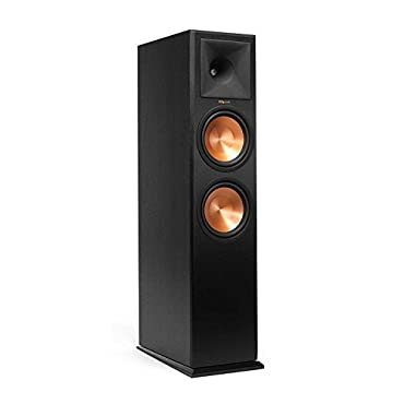 Klipsch RP-280FA Floorstanding Speaker with Built-In Dolby Atmos Height Channel Each (Ebony Vinyl)