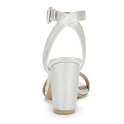 K 2 High Sandals Heel Ankle Women Allegra Silver Strap wxqSdUpnA