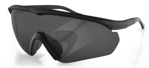 Bobster Delta Ballistic Shooting Sunglasses, Black Frame, 3 Lenses