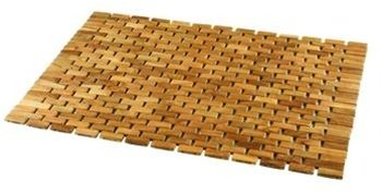 Conair Home Pollenex Solid Teak Roll-Up Folding Shower Spa Mat, DPSHMATR (Bath Conair Spa Mat)