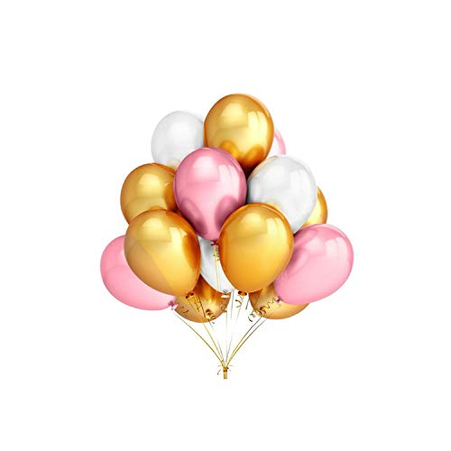 Latex Balloons Happy Birthday Wedding Party Decor Inflatable Air Helium,Mixed 3 Color,2.3G 10Inch C ()