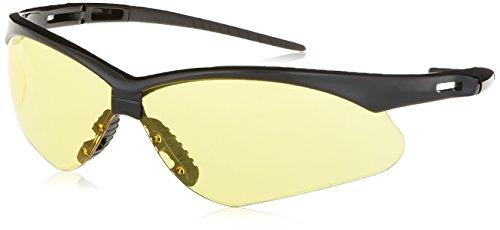 KIMBERLY-CLARK 25659 Jackson Safety V30 Nemesis Safety Glasses, Black Frame, Amber Lens