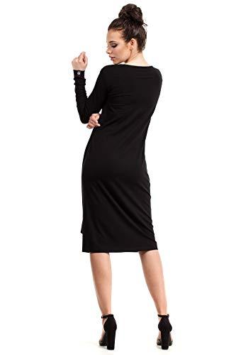 Asymmetrischer der Kleid Clea an mit Taille Schwarz Bindung XxExfBwF
