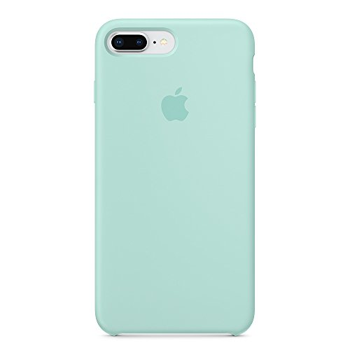 Opshell Soft Silicone Case Cover for Apple iPhone 8 Plus (5.5inch) Boxed- Retail Packaging (Marine Green)