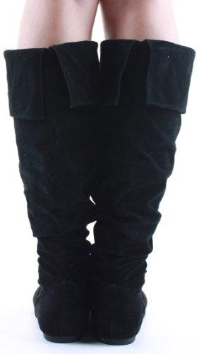 Heel High Style Calf shoeFashionista Ladies Size Flat Leg Low Winter Biker Knee Branded Boots wn1t0