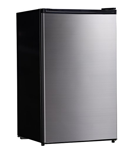 Midea WHS-160RSS1 Compact Single Reversible Door Refrigerator and Freezer, 4.4 Cubic Feet, Stainless Steel (Energy Star Bottom Freezer Drawer)