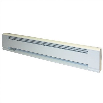 TPI G391048 Series 3900 Aluminum Hydronic Electric Baseboard Heater, Electric Fuel Type, 277 V, 48'' H, White