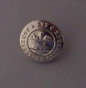 Tennesee State Seal Single Small Silver Uniform Button Gold Police/fire/EMS TN by HighQ Store