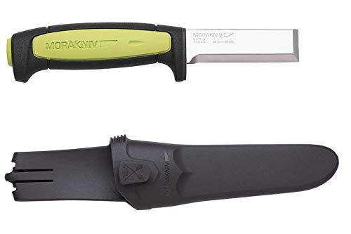 Morakniv Craftline Carpentry Chisel with Carbon Steel Blade, 3.0-Inch [1-Pack] + Free Spork