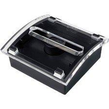 Wholesale CASE of 15 - 3M Post-It Pop-Up Design Series Note Dispenser-Designer Pop-Up Note Dispenser, 3''x3'', 50Sht/PD,Black/Clear by 3M