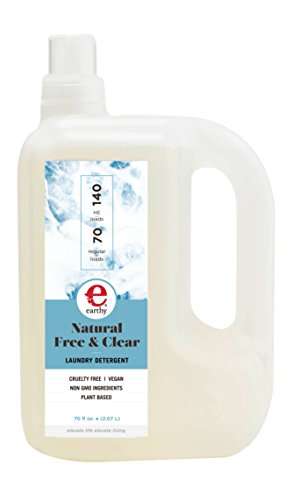 (Earthy Natural Laundry Detergent, Free & Clear, 70 Ounce)