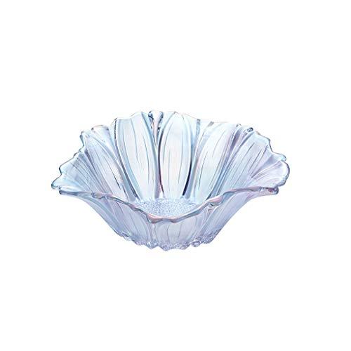 - LJBOZ Crystal glass fruit bowl fruit bucket home living room office large fruit bowl Fruit bowl (Color : Blue, Size : A)