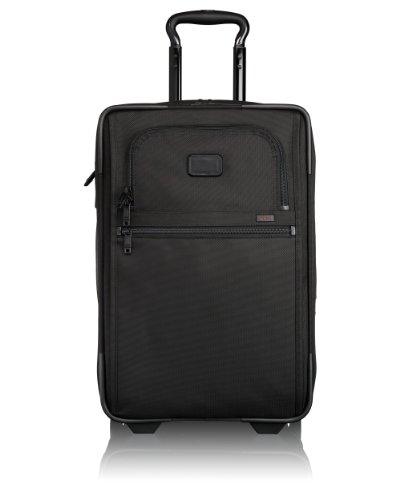 투미 Tumi Alpha 2 International Zippered Expandable Carry-On, Black, 22X14X9-Inch