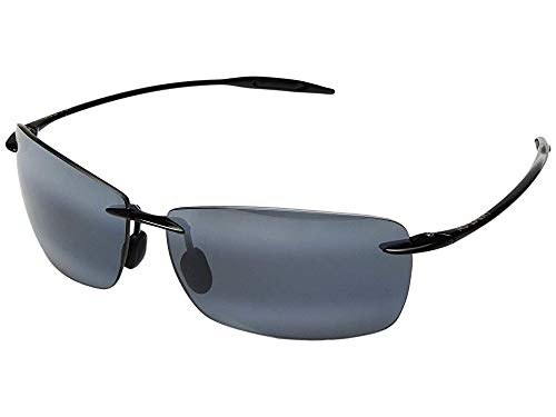 Maui Jim Unisex Lighthouse Gloss Black/Neutral Grey One Size